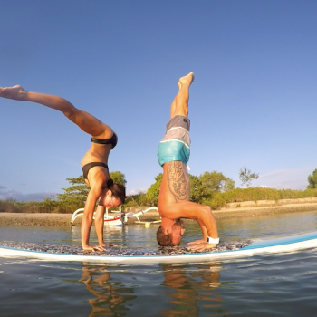 Yoga on SUP
