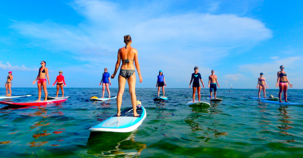Stand Up Paddle Boat Yoga